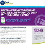 $100 Coles Myer Gift Card - Refer a Friend to a ME Bank Home Loan
