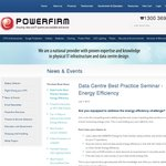 SYD Powerfirm: Data Centre Best Practice Seminar - Energy Efficiency 31st July, 8.30-9.30am
