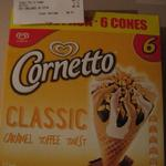 Streets Cornetto 6 Pack (Caramel Toffee Twist Variety only) $3.74 @ Coles