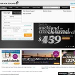 Air New Zealand to Auckland & Christchurch RETURN ex Melb $230, ex Syd $234 (Fly May/June)