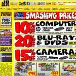 JB Hi-Fi Oz Day Long Weeknd Deals - 20% off DVD & Blu Ray, 10% off Computers, 15% off Cameras etc
