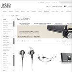 Selected Bose Audio Products 10% to 20% off - David Jones
