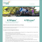 Suncorp Package Loan - Loans >= $500k - Variable Rate of 4.74% Pa - No Package Fees