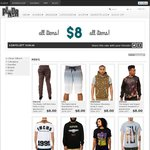 All Clothing Items on Page for $8 +Shipping from US @ PLNDR