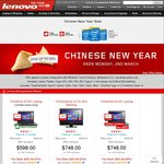 Lenovo Chinese New Year Sale - up to 30% off Product Range