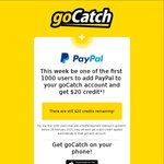 Get $20 Free Credit When You Connect PayPal to Gocatch App (Taxi App) + $20 Welcome Codes