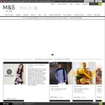 Marks & Spencer 20% off Online & Free Shipping on £30 Spend