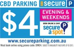$4 Evening and Weekend Melbourne CBD Secure Parking