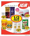 50% off Milo 200g $2, Kraft Peanut Butter 375g $2.24, Roses Chocolates 225g $4.25 @ IGA