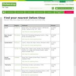 Free Chocolate at All Oxfam Shops NATIONWIDE