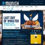 10c Chicken Wings, Aug 31 5-6PM at Munich Brauhaus + Bavarian Bier Cafe (Syd, Mel, Bris)