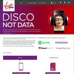 Virgin Mobile: No Data Charges on Spotify, Pandora, Google Play Music and iHeartRadio on Postpaid Plans $40+