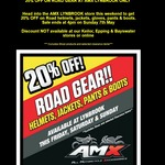 20% off Road Gear at AMX Superstores Lynbrook VIC