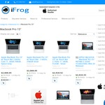 """15"""" MacBook Pro with Touchbar (2016) from $2668.05 @ iFrog ($2534 with OW Price Beat)"""