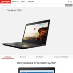 "ThinkPad E470 / 14"" FHD / Gen7 i7-7500U / 256GB SSD / 16GB RAM / 940MX GPU / $825 Shipped @ Lenovo (Plus 50% off All Warranties)"