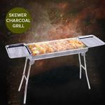 SOGA Skewers Grill with Side Tray Portable Stainless Steel Charcoal BBQ Outdoor 6-8 Persons $89.90 @ HeyHey