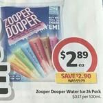 ½ Price Zooper Dooper 24 Pack $2.89 @ Coles