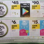 40% off Skype, 10% off $50 Google Play, 10% off $100 Kogan Gift Cards @ Woolworths