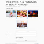 Win Qatar Airways Return Flights to Paris for 2 Worth $4,000 from Vicinity Centres