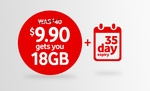 Vodafone $40 Data Combo Pack $9.90 18GB Data (35 Day Expiry)
