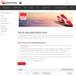 Double Qantas Points on All Eligible Qantas Operated Flights