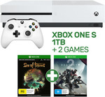 Xbox One S 1TB Console + 2 Games (Sea of Thieves & Destiny 2) $286.15 Delivered @ EB Games eBay