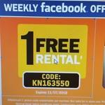 1 Free Rental @ Video Ezy Kiosk