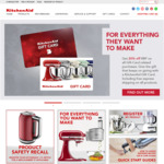 20% off RRP @ Kitchen Aid (With Newsletter Signup, Exclusions Apply)