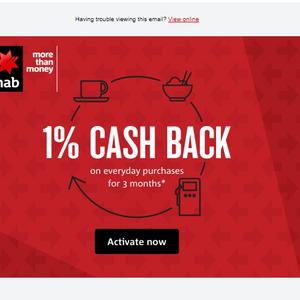 1% Cashback for 3 Months on NAB Rewards Platinum Credit Card
