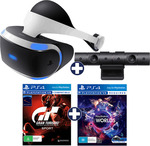 [PS4] PlayStation VR + PS4 Camera + 2 Games $299 (Free Pickup or + Delivery) @ EB Games