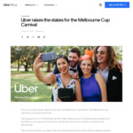 Win a Chopper Ride for You and 4 Friends out of Flemington Racecourse Each Day of The Melbourne Cup Carnival from Uber Australia