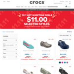 Crocs Shoes from $11 + Shipping (Free Shipping over $50) @ Crocs