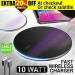 Fast Charging Wireless Charger Pad 10W $19.96 Delivered @ Crazy Technology eBay