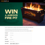 Win a Jameson Fire Pit Worth $400 from Cellarbrations