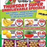 [QLD] Bananas $0.39 kg, Brown Onions $0.39 kg, Mangoes $0.39 Each, Watermelon $1 Each @ Northside Discount Fruit Barn (Rothwell)