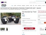 OUTDOOR rattan stacking chair/table $499 + delivery