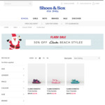 Clarks Kids Beach Styles (Fear & Frida) Flash Sale $19.98 (Was $39.95) + $9.95 Postage @ Shoes and Sox