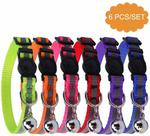 6 PCS Reflective Adjustable Cat Collar $16.99 (15% off) + Delivery (Free) @ Bingpet Amazon AU