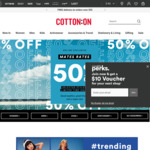 50% Off Selected Items @ Cotton On