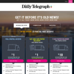 $1 for 28 Days of Digital Access + 8 Sat/Sun Papers Delivered + Extras @ The Daily Telegraph