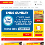 1,000 Flybuys Points for Using Click & Collect (No Minimum Spend) @ Liquorland