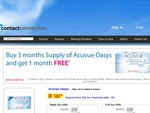 Free 1 Months Supply of Acuvue Oasys Contact Lenses for Every 3 Months Supply Ordered ($60)