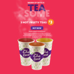 3 Hot Fruity Teas - $3 for 3 Teas @ Chatime