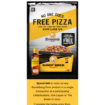 Free Domino's Traditional Pizza with Purchase of Bundaberg Rum Product (Min Spend $40) @ Cellarbrations, Bottle-O and IGA Liquor