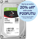 Seagate ST4000VN008 4TB IronWolf Hard Drive $143.20 + Delivery (Free with eBay Plus) @ Futu Online eBay