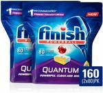 Finish Powerball Quantum Dishwasher Tablets, Lemon Sparkle, 160pk $38.99 + Delivery ($0 with Prime / $39 Spend) @ Amazon AU