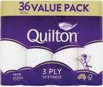 Quilton 3 Ply Toilet Tissue 36 Pack $16.49 C&C @ Chemist Warehouse