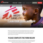 Free 2020 Calendar Delivered @ Doctors Without Borders