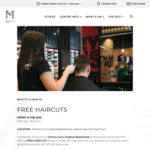 [NSW] Free Haircut @ Tommy Gun's Barbershop, Macquarie Centre (Email Signup Required)