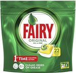 Fairy Original All in One Dishwasher Tablets Lemon 22 Pack x 5 (110 Tablets) $20.32 + Delivery ($0 with Prime/ $39+) @ Amazon AU